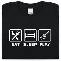 Eat Sleep Play Guitar T-Shirt Mens Womens Funny gift Present