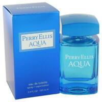 Perry Ellis AQUA Spray for Men 3.4 oz 3.3 EDT NEW IN BOX