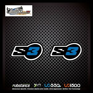 S3 Small Decal Blue Decal Sticker Trials (607)