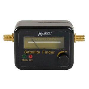 Anadol SF22 Digitaller Détecteur de Satellite Optique Et Acoustique Signal Noir