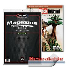 "25 Resealable Magazine Bags BCW Sleeves Protect 8 3/4"" x 11 1/8"" Print New Lot"