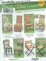 Simplicity 5952 Designer Chair Covers and Chair Pads   Sewing Pattern