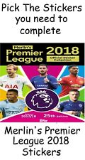 Topps Merlins Premier League 2018 stickers. Pick the stickers you need 17/18