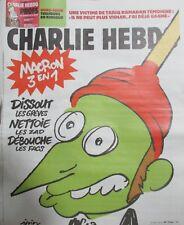 CHARLIE HEBDO N° 1344 de AVRIL 2018 MACRON 3 en 1 DISSOUT NETTOIE DEBOUCHE