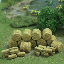 MP SCENERY 30 Brown Hay Bales HO Scale Architectural Model Farm Railroad Layout