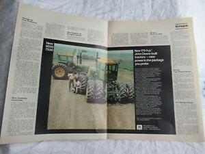 John Deere 6030 7520 tractor magazine print ad poster