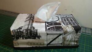 New York City Rectangle Tissue Box Cover Handmade