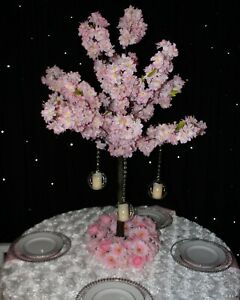 4ft pink cherry Blossom Tree Centerpiece Wedding Event, wedding centrepiece hire