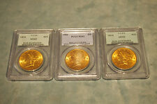 PCGS MS62  LIBERTY $20 GOLD COINS CIRCA 1904  SET OF 3 PRICE FOR 1  COIN ONLY