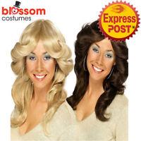 W295 60S 70S Disco Diva Costume Flick Farrah Fawcett Charlies Angels Womens Wig