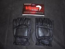 Viper British Military Style Black Leather Fingerless Gloves Combat - Size XL