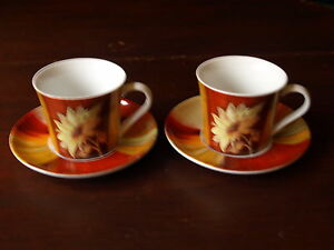 ROYAL WORCESTER NEL  CUP AND SAUCERS X 2.