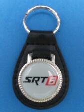 SRT8 SRT-8 AUTO LEATHER KEYCHAIN KEY CHAIN RING FOB SILVER #204