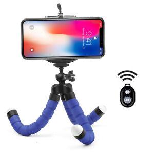 Mini Sponge Octopus Tripod Bracket Holder & Remote Control for Phone Camera Self