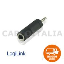 Adattatore jack 6.3mm Femmina a jack 3.5mm Maschio Audio riduttore Stereo aux