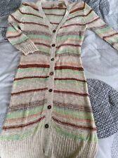 Buckle BKE Cardigan Knit Sweater S LS colorful LONG Beautiful Sexy EUC