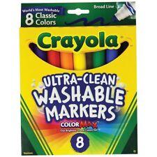Crayola Ultra-Clean Washable Broad Line Markers 8-Color Set - Broad-Line, 8