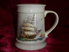Vintage SAILING SHIP / GALLEON TANKARD by Melba Ware - Large nautical themed mug