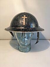 Elmetto MKII Brodie priest Cappellano militare prete 1939 WKII IIGM 2WK  raritat 352c62a24ebd