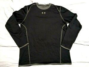 Under Armour Men's Long Sleeve Compression Shirt XL Black ColdGear BASE LAYER