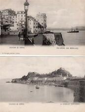 5 Corfu Corfou unused plain back printed old postcards A Farrugia