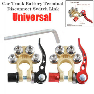 2x Copper Universal Car Truck Universal Battery Terminal Disconnect Switch Link