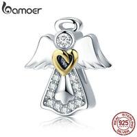Bamoer European 925 Sterling Silver charm guardian angel Fit Bracelet Jewelry