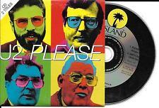 CD CARTONNE CARDSLEEVE 2 TITRES U2 PLEASE DE 1997