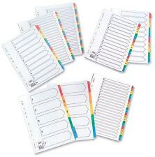 Tarjeta de índice estrella con color de Mylar de 230 Micrones A4 Tabs A-Z Blanco 464335