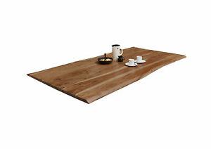 Tischplatte Akazie 120 x 80 cm Natur B-WARE 41478