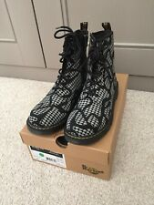 Dr Martens Doc Marten Boots Patterned Black And Silver Grey  New Size 5.5 Boots
