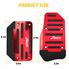 2pc Red Non-slip Automatic Gas Brake Foot Pedal Pad Cover For Car Auto Parts Eom