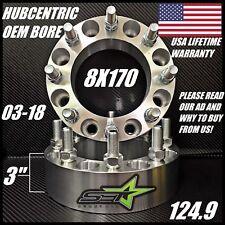 "8X170 HUB CENTRIC WHEEL SPACERS | 3"" INCH (50MM) 8 LUG FORD SUPERDUTY EXCURSION"