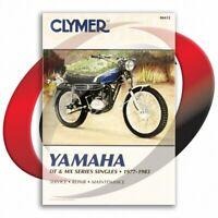 1978-1981 Yamaha DT125 Repair Manual Clymer M412 Service Shop Garage