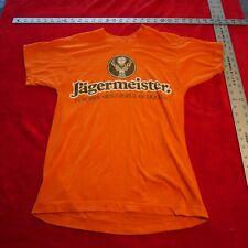 New listing vintage 1990's Jagermeister orange tee shirt size M Medium
