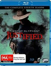 Justified Complete Series 4 Blu Ray All Episodes Fourth Season Original UK New