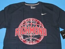 NIKE Richmond University BASKETBALL T-Shirt Men Size L Navy Blue Regular Fit NWT