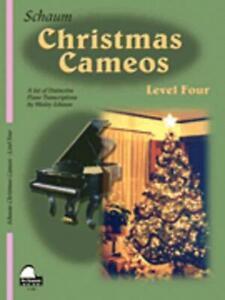 SCHAUM CHRISTMAS CAMEOS LEVEL 4 MUSIC BOOK PIANO INTERMEDIATE LEVEL NEW ON SALE