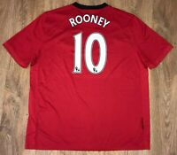 Manchester United 2009 - 2010 #10 Rooney home shirt size XXL
