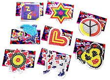 12x Bügelperlen Bügelplatten Bügelbilder Stiftpatten Steckplatten Bilder Basteln