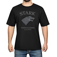 Game of Thrones Lce Wolf Cotton Short Sleeve Men's T-Shirt Tops Tee Black shirts