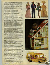 1979 PAPER AD 6 Pg Doll Barbie Ken Tent Pool Dream House Outfits Formal Pantsuit