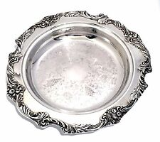 """Reed Barton King Francis Silver Plate Large 13"""" Tray Pie Server Dish Holder Tray"""