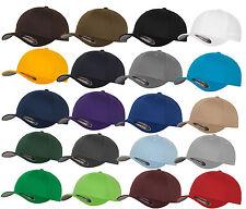 ORIGINAL FLEXFIT® CAP BASEBALL CAPS graue Unterseite S M L XL XXL BASECAP MÜTZE