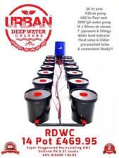 20L 14 Pot System 2Lane & Flexi Tank For Grow Space 3.5mx1m RDWC DWC Propagator