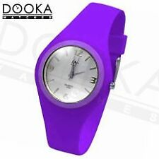 MJ Ultra Thin Violet Rubber Strap Casual Women Fashion Watch S065