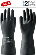 Lanon Rubber Chemical Resistant Gloves Reusable Heavy Duty Safety Work Glove