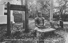 More details for anuradhapura ceylon c1910 postcard statue of buddha & ancient carvings on stone.