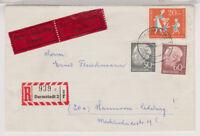 BUND, Mi. 189/90, 251, R-Eil-Darmstadt, 28.4.57, AKS