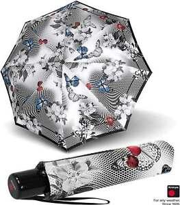 Knirps Regenschirm Taschenschirm Slim Duomatic Automatik Damen klein Japan